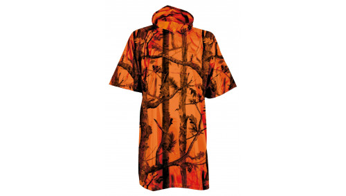 PONCHO CHASSE GHOST CAMO FOREST FLUO - PERCUSSION